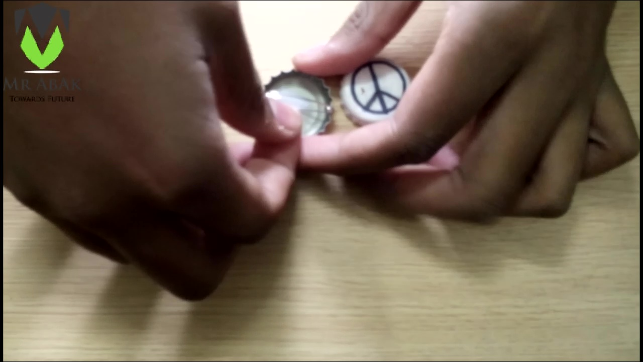 Picture of Bottle Cap Badges : Attaching the Pin