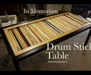 Make Table Tops From Used Drum Sticks