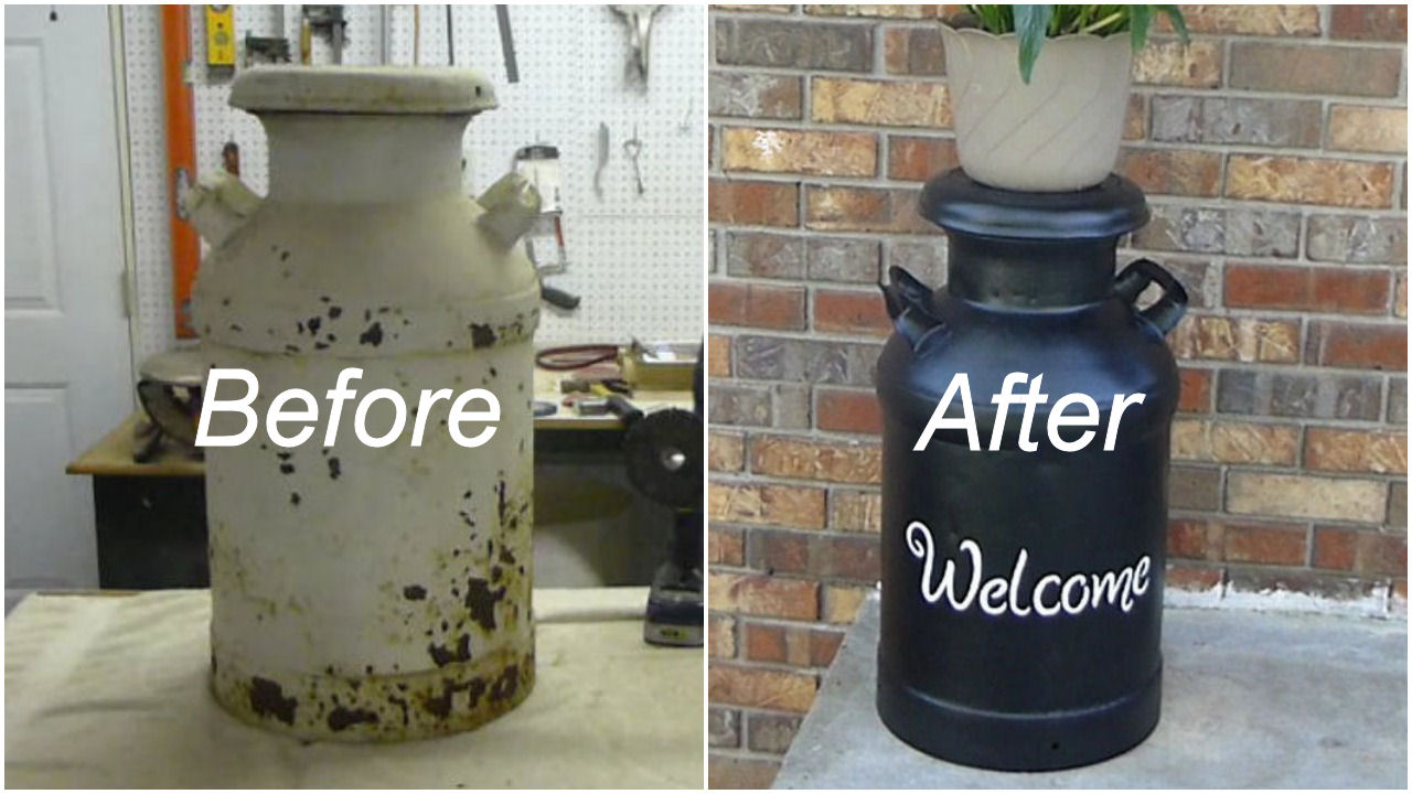 Picture of How to Restore a Vintage Milk Can
