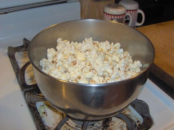 Homemade, Stovetop Popcorn
