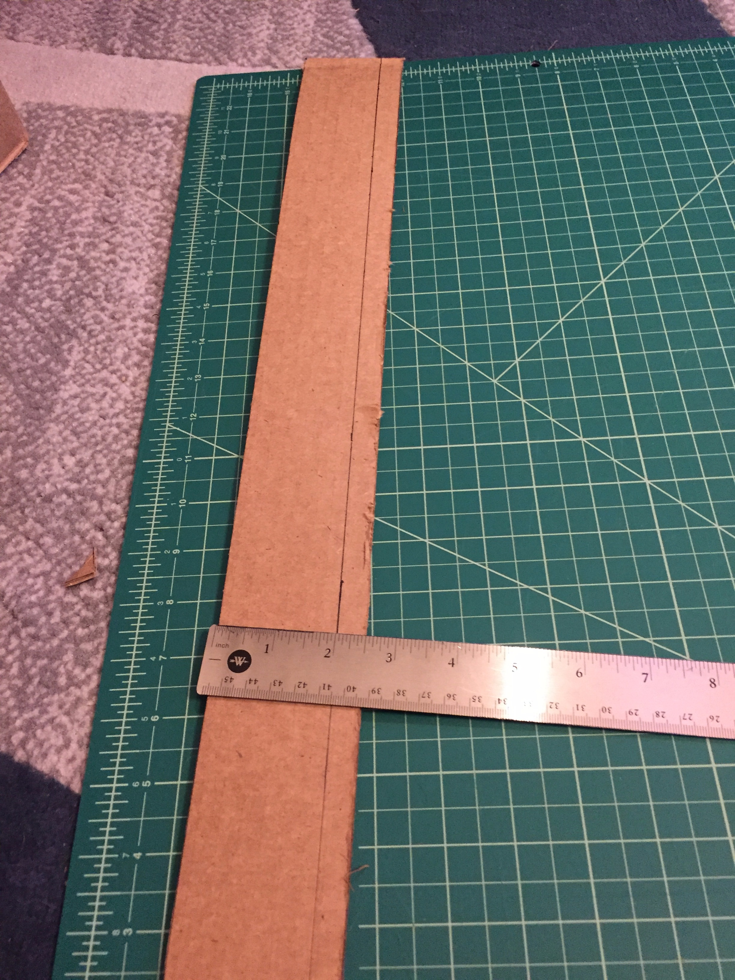 """Picture of Floor (A) – Cut Two 2x18"""" Strips"""