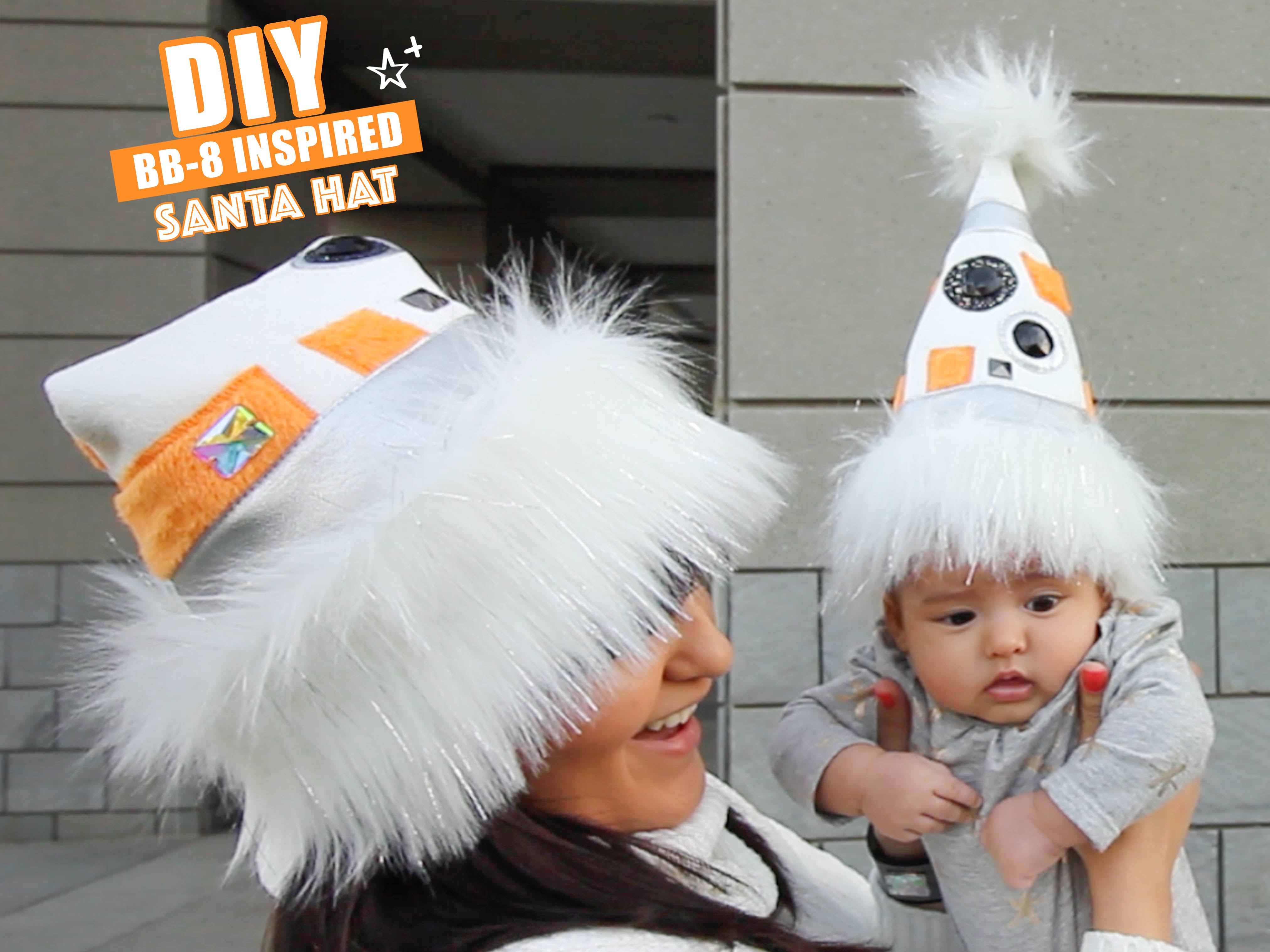 Picture of Star Wars BB8 Inspired Santa Hat