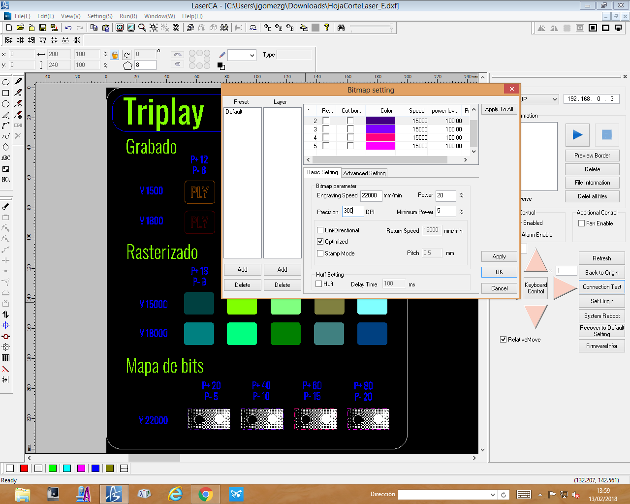 Picture of Bitmap Settings