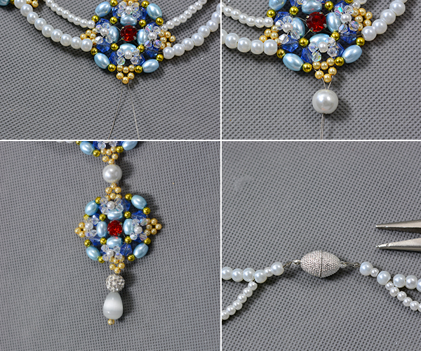 Picture of Finish the Pearl Beads Necklace for Wedding