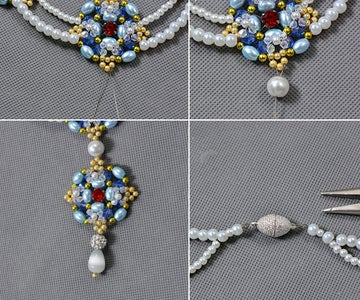 Finish the Pearl Beads Necklace for Wedding