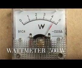 DIY Wattmeter using Arduino Uno