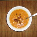 Cajun Style Fresh Pumpkin Soup with Bacon