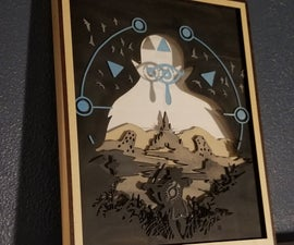 Legend of Zelda - Breath of the Wild Shadow Box
