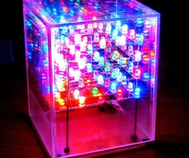 Hard Wired LED Cube: [No Programming]