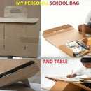 School Bag Study Table From Waste Carton Box