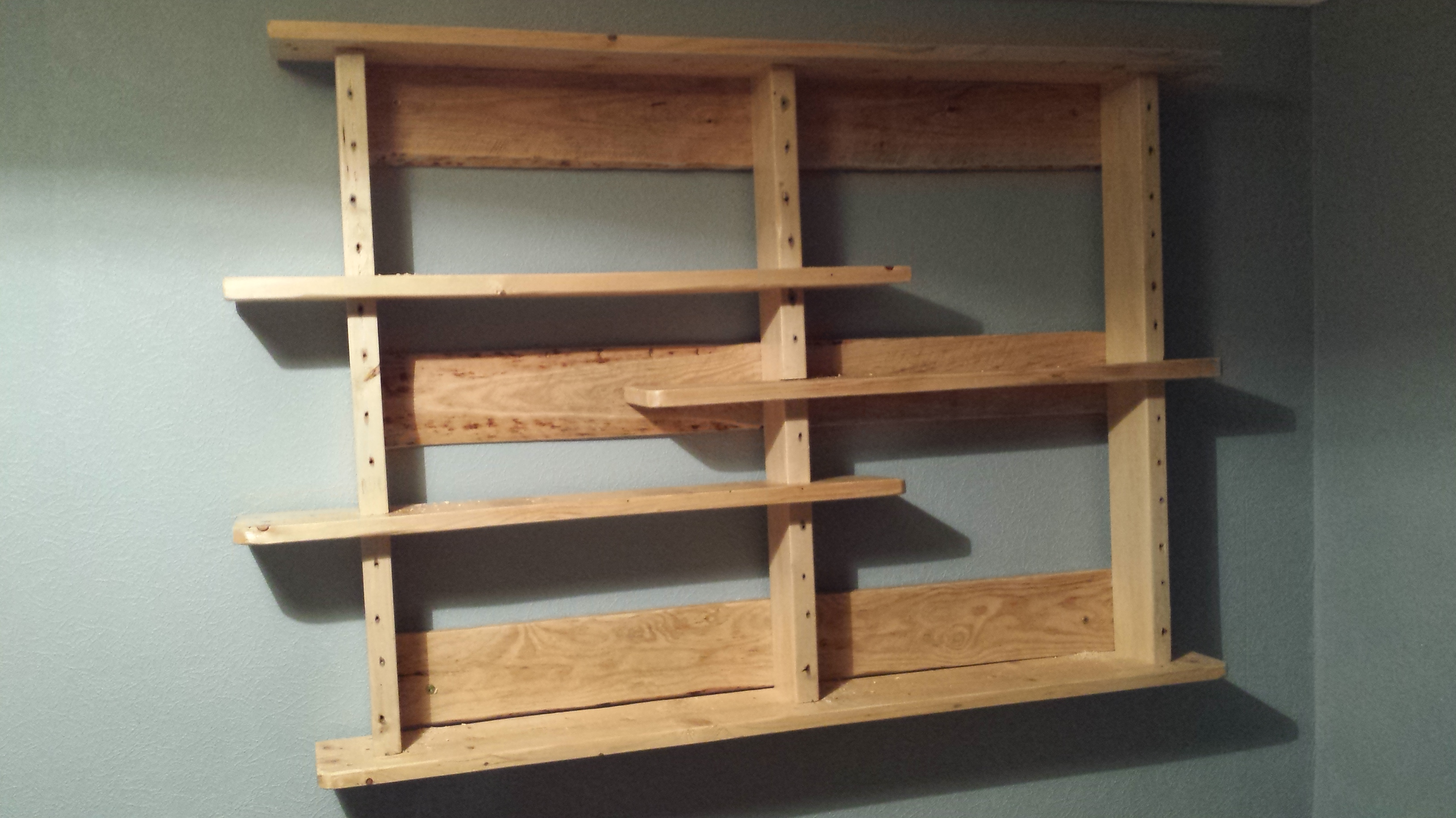 Pallet Shelves No Big Tools 5 Steps With Pictures