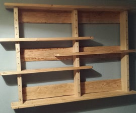 Pallet Shelves.  no big tools