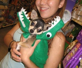 Gator, dragon, snake costume for dog or prop.. little sewing, light weight, and quick