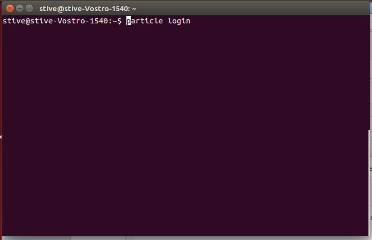 Picture of Installing Particle CLI
