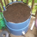Patio Garden Wicking Bed From 55 Gallon Steel Drum