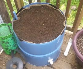 Patio Garden Wicking Bed From 55 Gallon Steel Drum