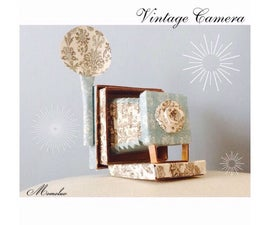 Vintage Papercraft Camera
