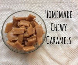 Homemade Chewy Caramel Candy, the perfect Gift
