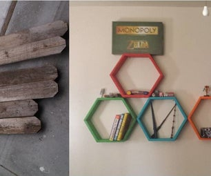 Hexagon Shelves From Old Fence Boards.