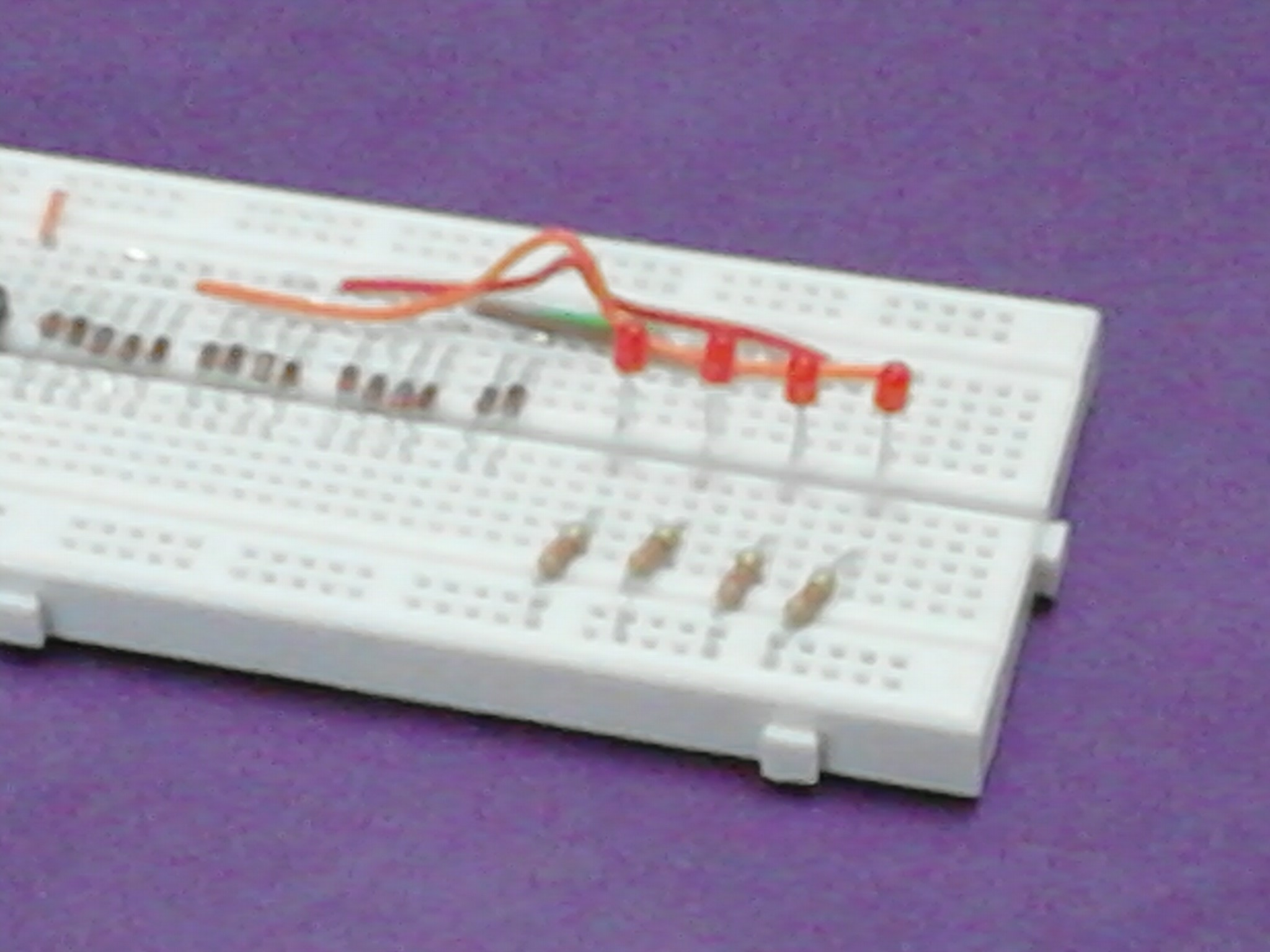 Picture of Installing the LEDs & Resistors