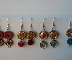 Cute (As A) Button Earrings