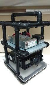 Rack De PVC - Radioamador (PVC Rack - Ham Radio)