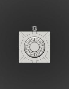 Stargate 3D Locket With Hidden Locking Mechanism