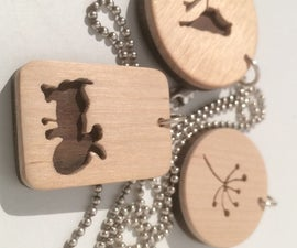 Make a wooden pendant on a necklace