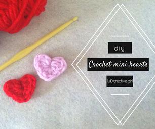 DIY: Crochet Tiny Hearts (Easy).