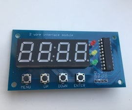 Two Wire (DMX) Interface With Screen and Buttons