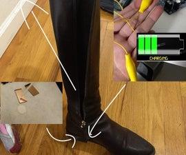 Piezoelectric Nanofiber Electricity Producing Shoes