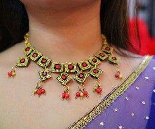 DIY Terracotta Neck-piece Jewelry