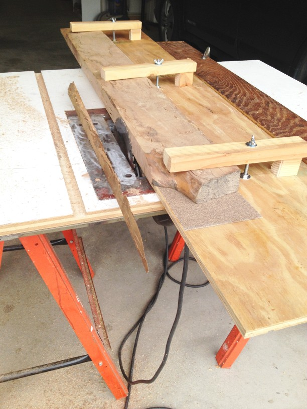 Picture of Sled for Making a True Edge With a Table Saw