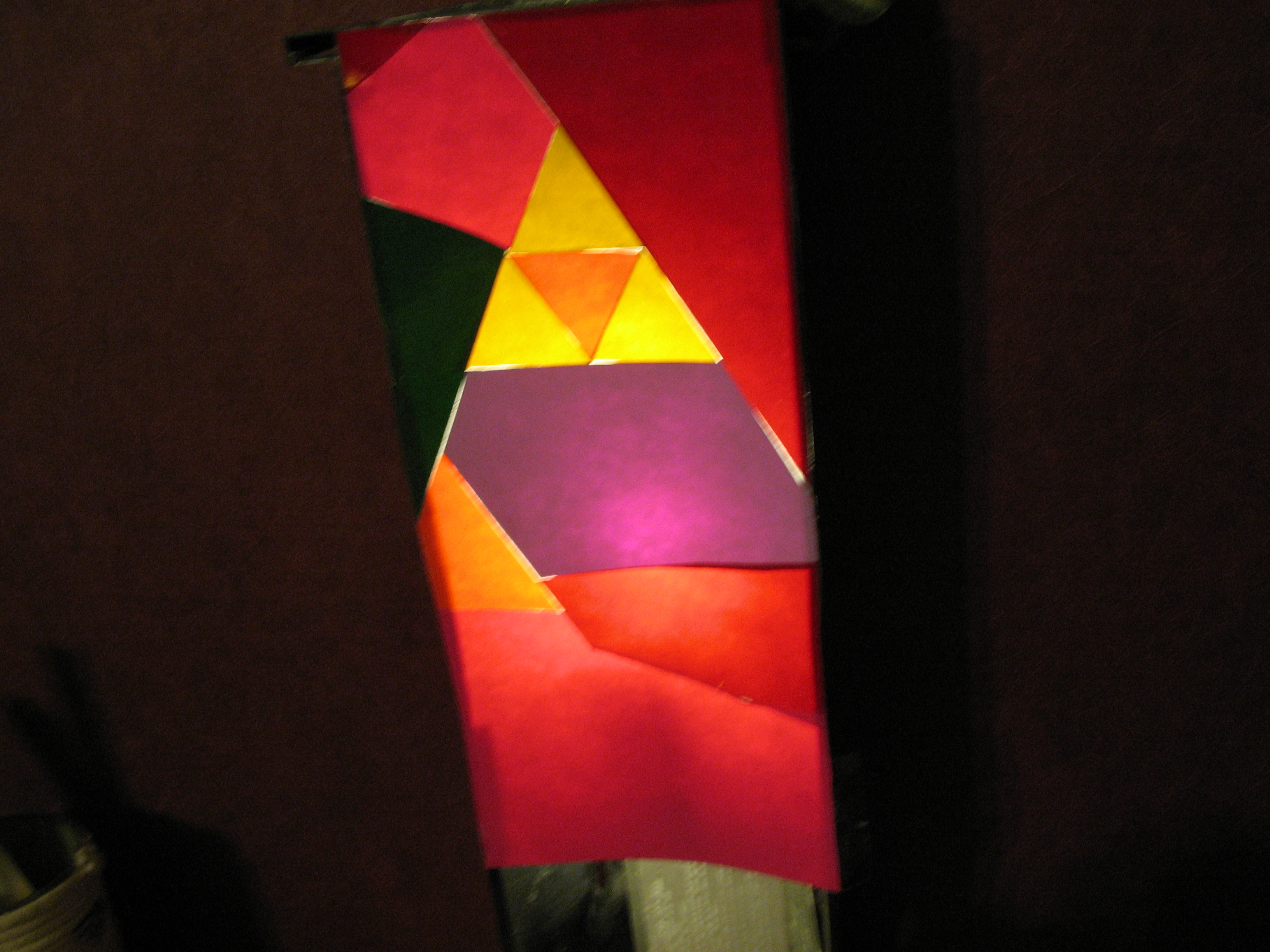 "Picture of ""Stained Glass"" Triforce Lampshade"