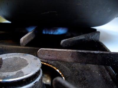 Heat Oil in Pan.