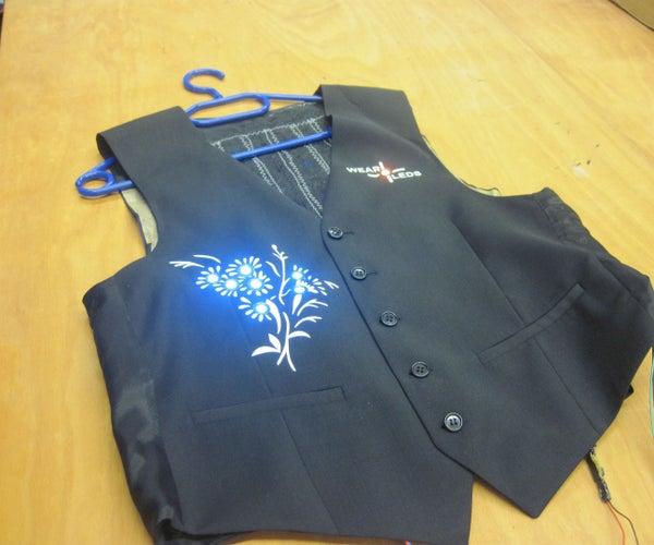 Rivet LEDs for a Blinking Vest