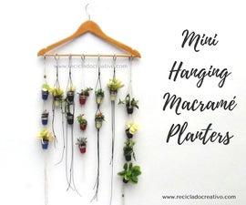 Mini Macramé Hanging Planter