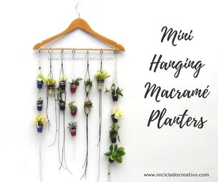 Mini Macramé Hanging Planter
