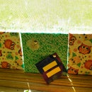 Great nursery or anywhere fabric cork board squares