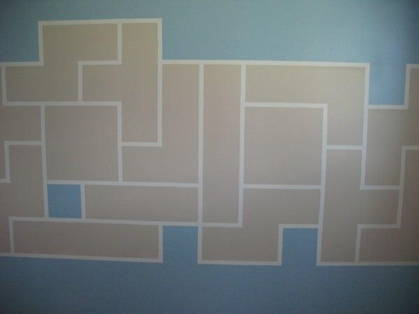 Tetris Paint Wall