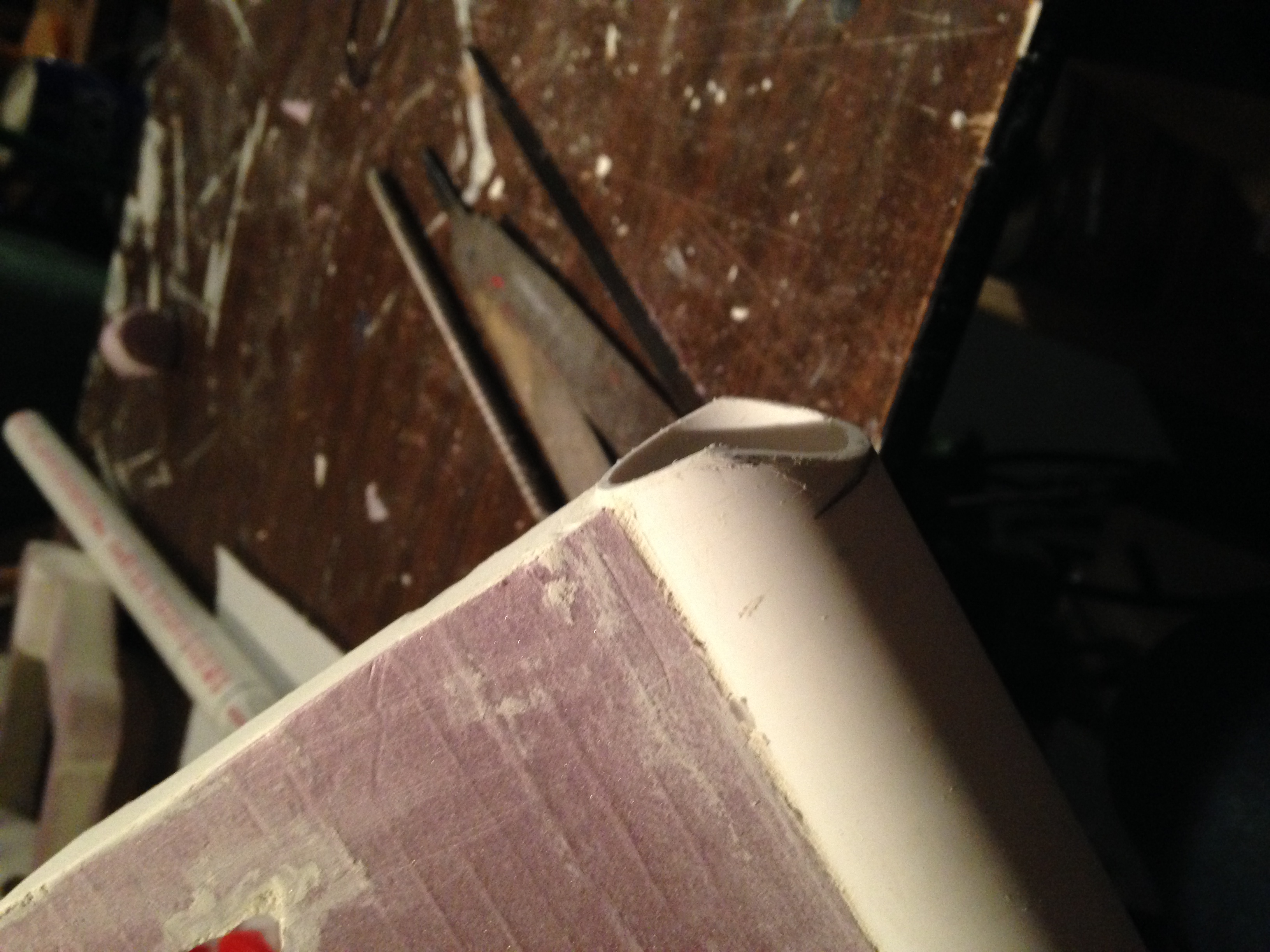 Picture of Making the Slant at the End of the Blade.