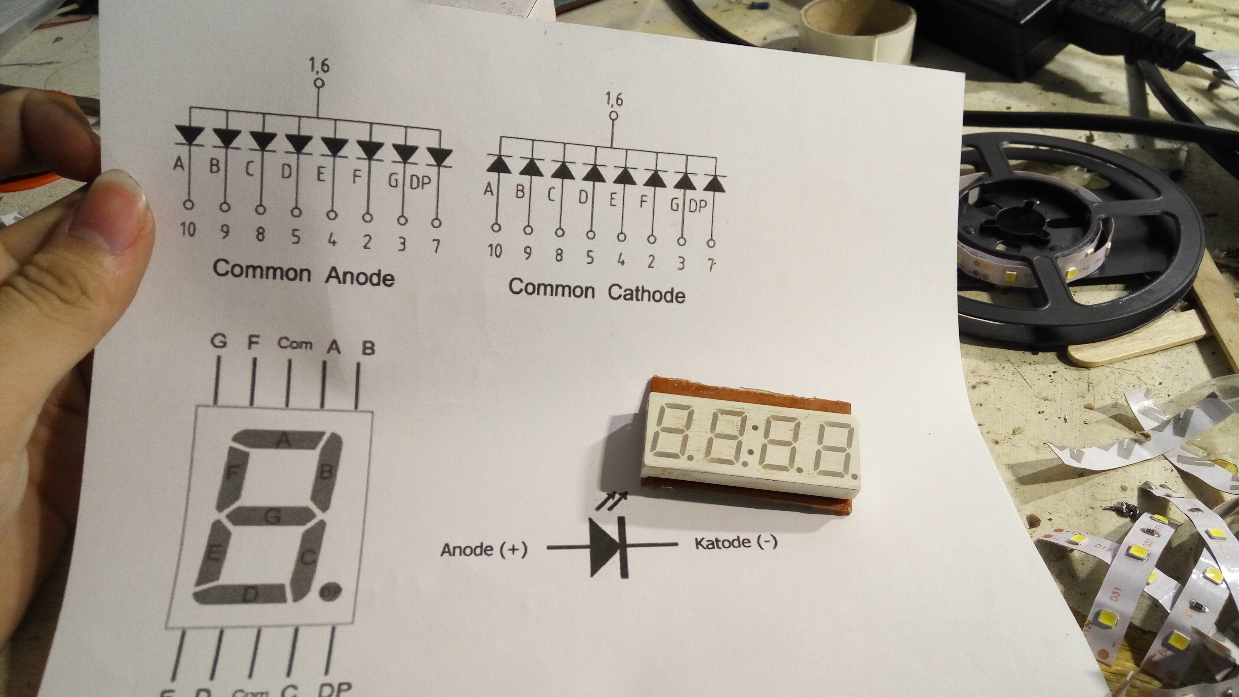 Picture of What 7 Segment Common Pin Type Do You Have? Anode or Cathode?