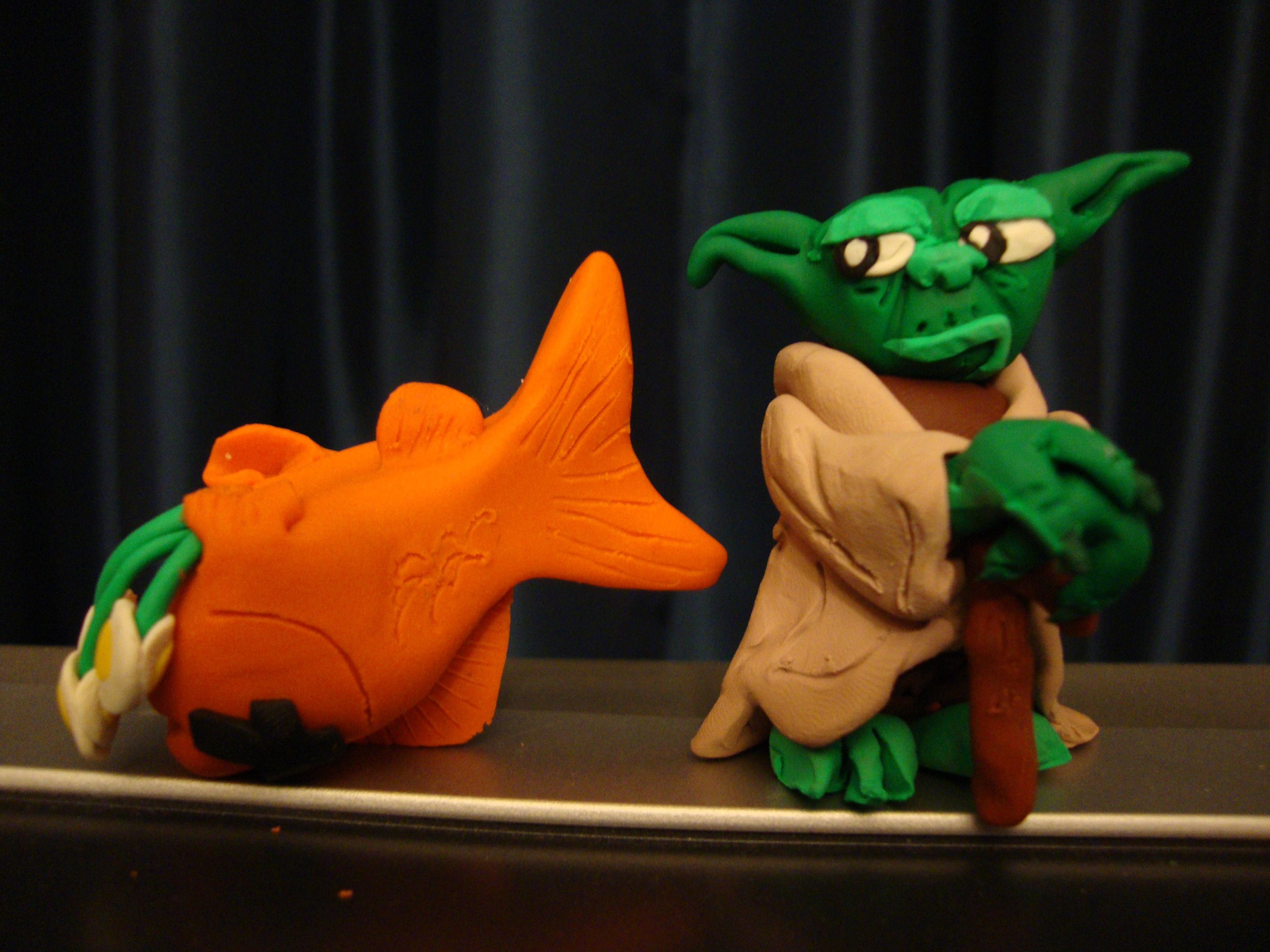 Picture of Amusing Dead Fish Sculpey Sculpture