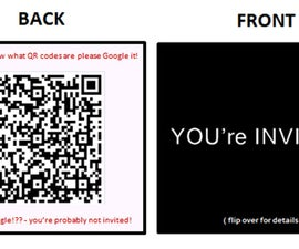 DIY on Modern Invitations: Using Business Cards and QR Codes
