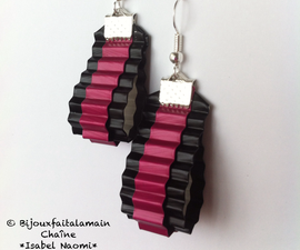 How to make ribbon shaped earrings with coffee pods