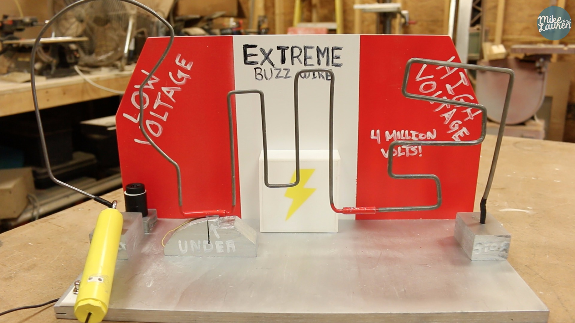 Picture of Extreme Buzz Wire Game With STUN GUN!