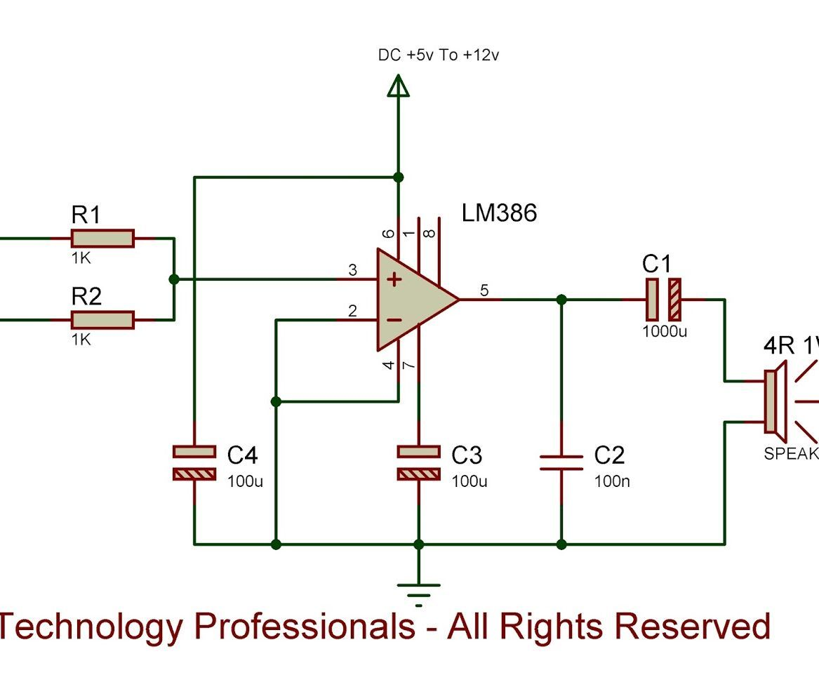 Simplest Hq Audio Amplifier Mini Circuit Schematic Simple Portable
