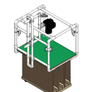 A2 overhead corner-LEDs lightbox - platform extension
