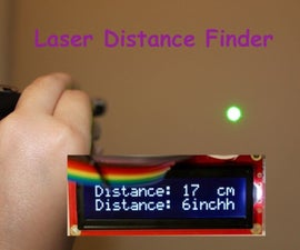 Laser Pointer Ultrasonic Distance Finder