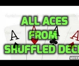 Find all the aces from shuffled deck! #magictricksrevealed